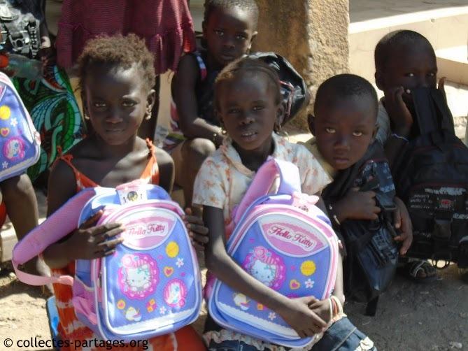 Les enfants de l\'école en brousse