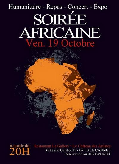 Soirée Africaine au Cannet, le 19 octobre 2012