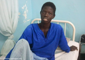 Ibrahima après l'operation