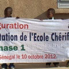 Inauguration de l'école Chérif III à Rufisque, en banlieue de Dakar