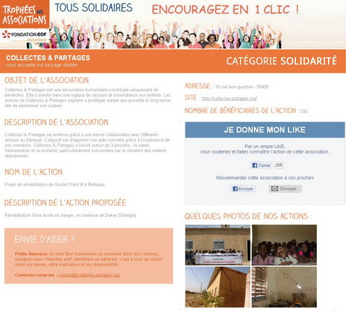 Présentation sur le site de la Fondation EDF