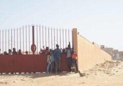 Construction d'une clôture à l'école Chérif 3  en 2015