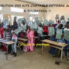 DISTRIBUTION DE KITS CARTABLE à TOUBATOUL à côté de THIES
