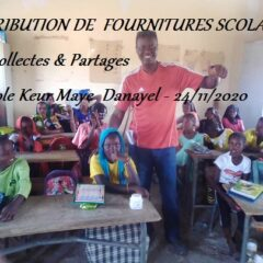 DISTRIBUTION DE FOURNITURES SCOLAIRES à l'école Keur Mbaye Danayel